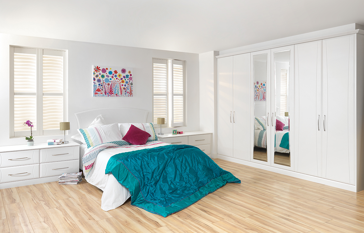 Fitted Bedrooms - Eclipse :: White Text