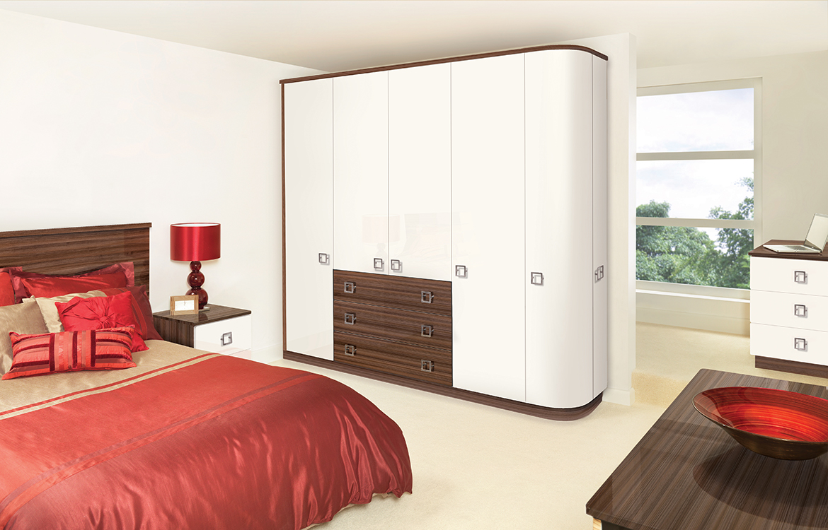 Fitted Bedrooms - Glacier :: White and Noce