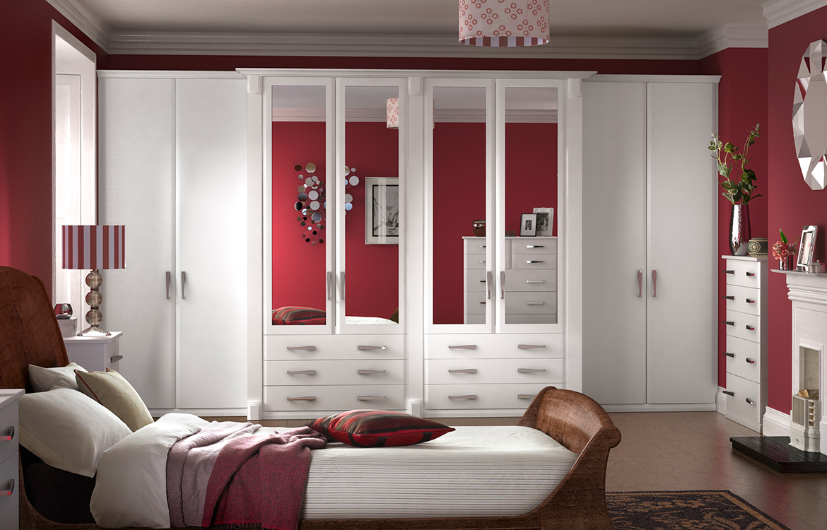Fitted Bedrooms - Misano :: saw cut white