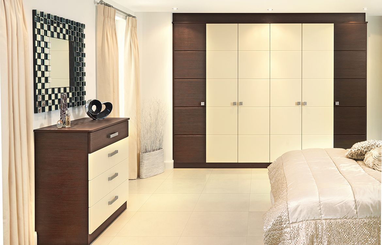 Fitted Bedrooms - Rinalto :: Rift Oak & Vanilla Text