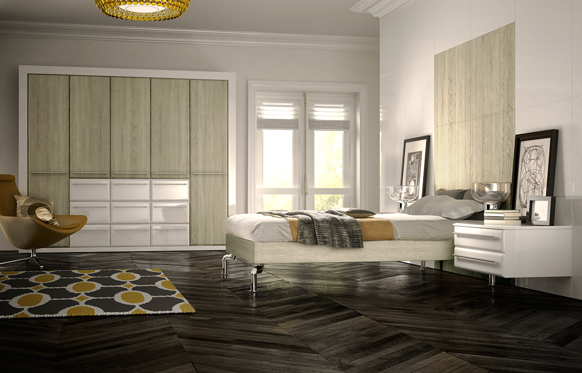 Fitted Bedrooms - Valencia :: sonoma oak & white gloss