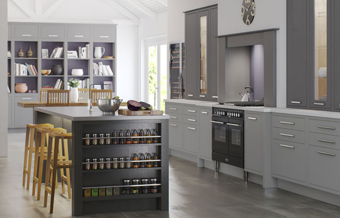 Cadet Grey - Hand finished Fitted kitchen :: castle and anthracite grey