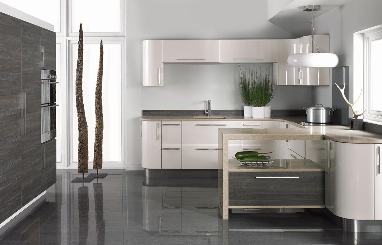 Lastra fitted kitchen :: permagon gloss and mali wenge matt finish