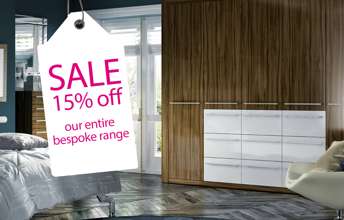 15% off fitted bedrooms and wardrobes